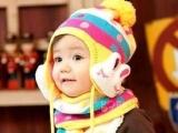 2011韩版儿童套装 帽子+围巾 圆点条