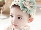 韩版超可爱儿童网纱大花发带批发 婴儿蕾丝花朵发带发饰 拍摄道具