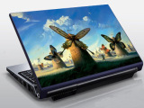 低价批发笔记本彩膜,皮纹彩膜,外壳贴膜 笔记本炫彩贴 通用尺寸