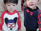 冬款新款 韩版厂家儿童装羊羔绒长袖卫衣 小童宝宝加绒卫衣批发