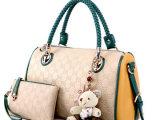 金粉世家2014时尚女包新款韩版潮流单肩斜挎手提包撞色女士包包