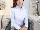 白衬衫2015秋季新款韩版大码女装修身显瘦衬衣女长袖职业女式衬衫