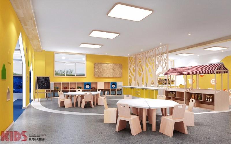 西安凯司幼儿园设计多种元素相结合,满足幼儿成长需要的空间