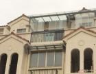 朗亮门窗阳光房现场施工安装效果图