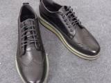 新款上市厂家直销英伦复古雕花松糕底男鞋青年印花皮板鞋包邮