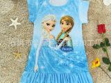 2015年外贸出口现货 FROZEN 冰雪奇缘 卡通女童连衣裙