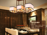现代新中式吊灯 仿古铁艺客厅吊灯餐厅灯简约茶楼中式灯具
