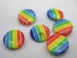 20#彩虹树脂纽扣 糖果色儿童钮扣 桥孔1.35CM