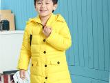 外贸原单童装男女童冬装外套 韩版中女长款带帽加厚儿童羽绒棉服