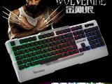 硕王SK-10 机械手感七色彩虹背光游戏键盘 悬浮按键防尘防水键