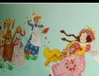 墙绘 彩绘 手绘墙 3D立体画 油画 涂鸦手绘壁画
