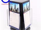 360度手动旋转亚克力资料展示架 深圳厂家定制展示道具