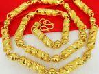 南非锡金 越南沙金男项链  黄铜镀24k