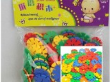 中号雪花片,幼儿园塑料插片玩具,拼插积木益智,3-7岁适用156