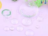 DIY饰品配件 圆形时光宝石配件 透明滴胶玻璃贴片 耳钉配件特卖