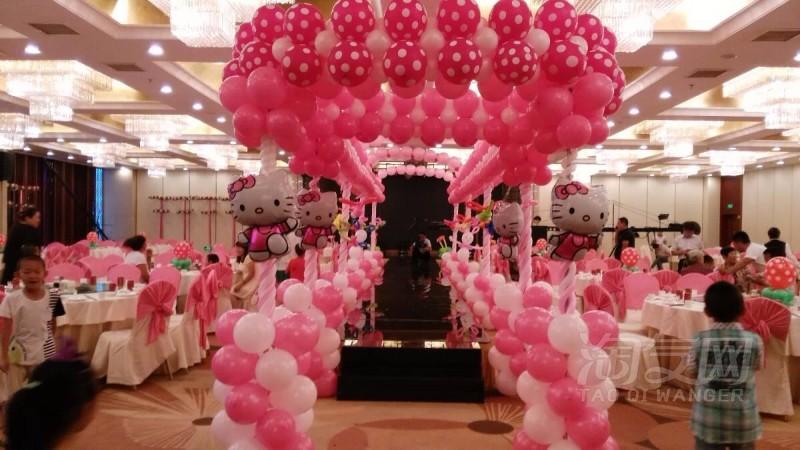泉州卓悦婚庆气球现场布置,庆典布置