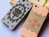 韩国小清新透明iPhone5s/5手机壳 苹果4s皮纹保护套 萌