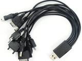 厂家直销批发 手机多功能数据线USB一拖十**充电线直充电源线