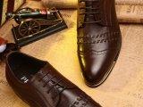 厂家直销 2014新款大牌男鞋真皮正装系带粗跟潮鞋微信一件代发
