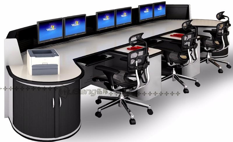 广州伍邦供应高端大气调度台 应急接警台 监控指挥台厂家