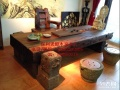 拉萨市老船木办公桌家具茶桌椅子客厅沙发茶几茶台实木会议大板桌