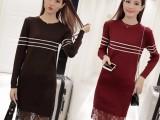高端定制 欧美大牌女装休闲时尚羊毛针织长款毛衣