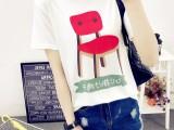 新款女装韩版修身显瘦短裤T恤,厂家直销