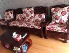 纯实木组合沙发 赠送实木茶几及成套坐垫靠垫