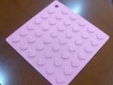 热销硅胶心型隔热桌垫  餐垫 硅胶锅垫  硅胶杯垫