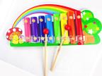 木制音乐玩具 彩虹八音琴 钢片敲琴 1-3岁婴幼儿童宝宝益智早教