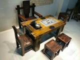 老船木茶桌批发 实木仿古茶茶台功夫泡茶桌客厅