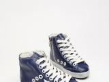 golden goose 品牌纯牛皮高帮鞋限量版休闲儿童鞋