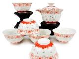 茶具 青花瓷 手抓壶茶具套装 2种款式 瓷汇陶瓷