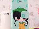 批发蚕丝纹彩绘iphone4S手机壳苹果5S保护套iphone5