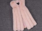 2014冬季毛毛女中长款仿狐狸毛皮草外套竖条马甲背心厂家批发