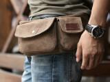 特价2013日韩新款帆布腰包时尚潮休闲单肩男包 复古户外运动胸包