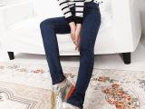 2015夏新款韩版女式弹力显瘦修身牛仔裤休闲中腰紧身型小脚铅笔裤