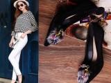 厂家直销2015秋冬新款女鞋欧美外贸原单羊皮浅口高跟单鞋尖头