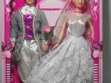 厂家直销 3C认证玩具 乐妍儿婚纱夫妻芭比娃娃 男芭比三套衣服