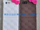 厂家直销 Iphone5硅胶保护套 饼干猫蝴蝶结手机壳 5代保护