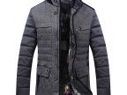 新款加厚商务休闲男式英伦外套夹克 棉衣男 男士外套男装棉衣