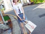 6元夏季女装t恤女短袖修身圆领显瘦体恤小衫纯棉上衣半袖打底衫