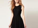 厂家直销 欧美新款女装性感蕾丝拼接连衣裙无袖雪纺连衣裙YXL