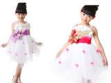 厂家直销  新款儿童公主裙纱裙 演出服 舞蹈服女童夏装礼服 批发