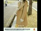 毛呢外套女中长款韩版加棉加厚呢子大衣修身潮