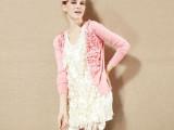 秋季新款欧美花朵长袖百搭拼接女式针织衫 小香风开衫女小外套