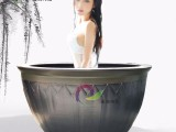 厂家大缸中心专用大缸温泉项目浴缸景德镇陶瓷泡澡缸工厂