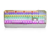 狼记T5 RGB彩虹背光游戏机械键盘 金