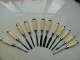 供应手动工具12件套木刻刀(图)雕刻刀 木凿