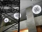 铭星现代星球吊灯客餐厅卧室书房大堂LED球形吊灯定制